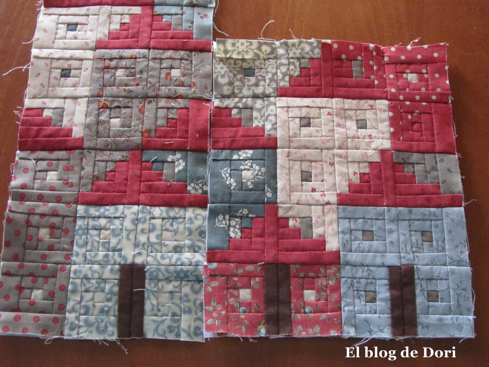 El blog de dori casitas log cabin un proyecto muy especial - Casas de patchwork ...