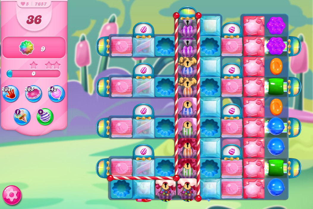 Candy Crush Saga level 7657