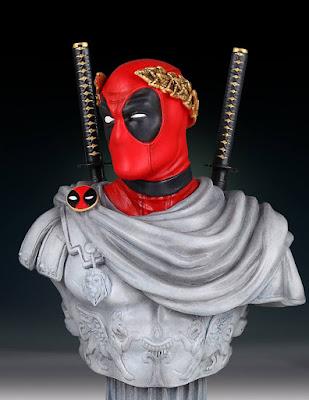 Caesar Deadpool Classic Marvel Mini Bust by Gentle Giant