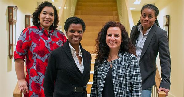 Karen Karr, Noramay Cadena, Daphne Dufresne, Juliana Garaizar, founders of Rising America Fund