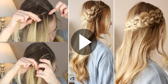 Learn - How To Create Simple And Easy Four Strand Dutch Braid Hairstyle, See Tutorial