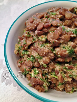 Lentil, Arugula and Walnut Side Dish