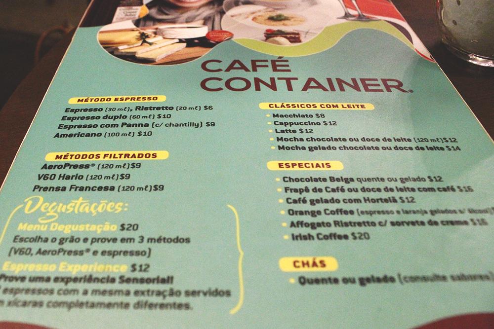 menu cafeteria