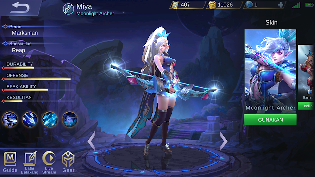 build item miya mobile legends terbaru 2018