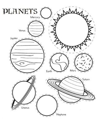Gambar mewarnai planet