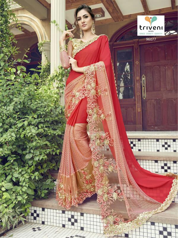 Triveni 96077-96088 – Popular Fashion Wear Heavy Designer Saree