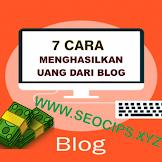 7 Cara Menghasilkan Uang Dari Blog