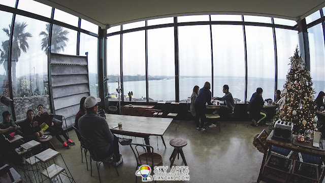Monsant Cafe몽상 @ Jeju Island - Dining area with Jeju Island sea view