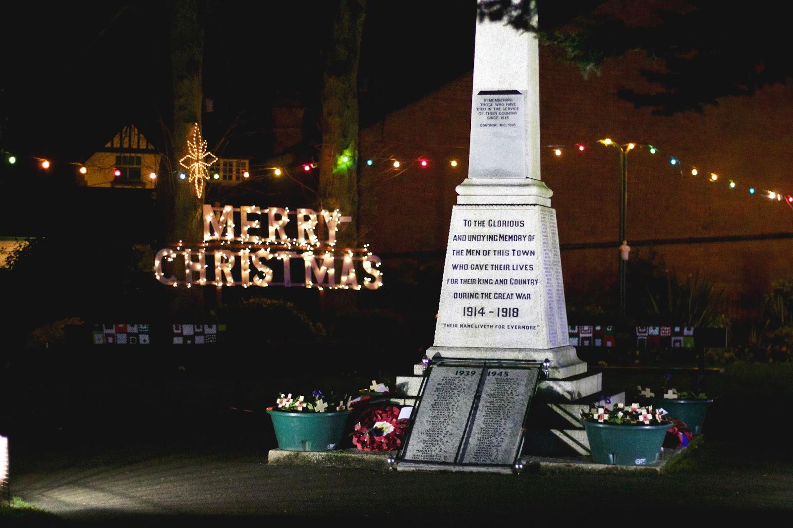 Belper Christmas Decorations, Lights, Memorial Gardens