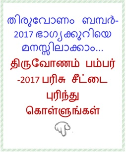 Understanding Thiruvonam Bumper-2017 lottery
