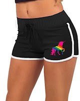 Retro Unicorn Sissy Shorts