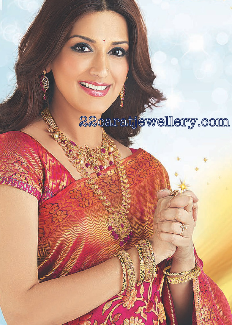 Sonali Bendre Uncut Diamond Long Chain Kalyana Kanchi Ad