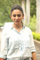 Rakul Preet Singh in Jeans and White Shirt At Jaya Janaki Nayaka le Logo Launch ~  Exclusive 013.JPG
