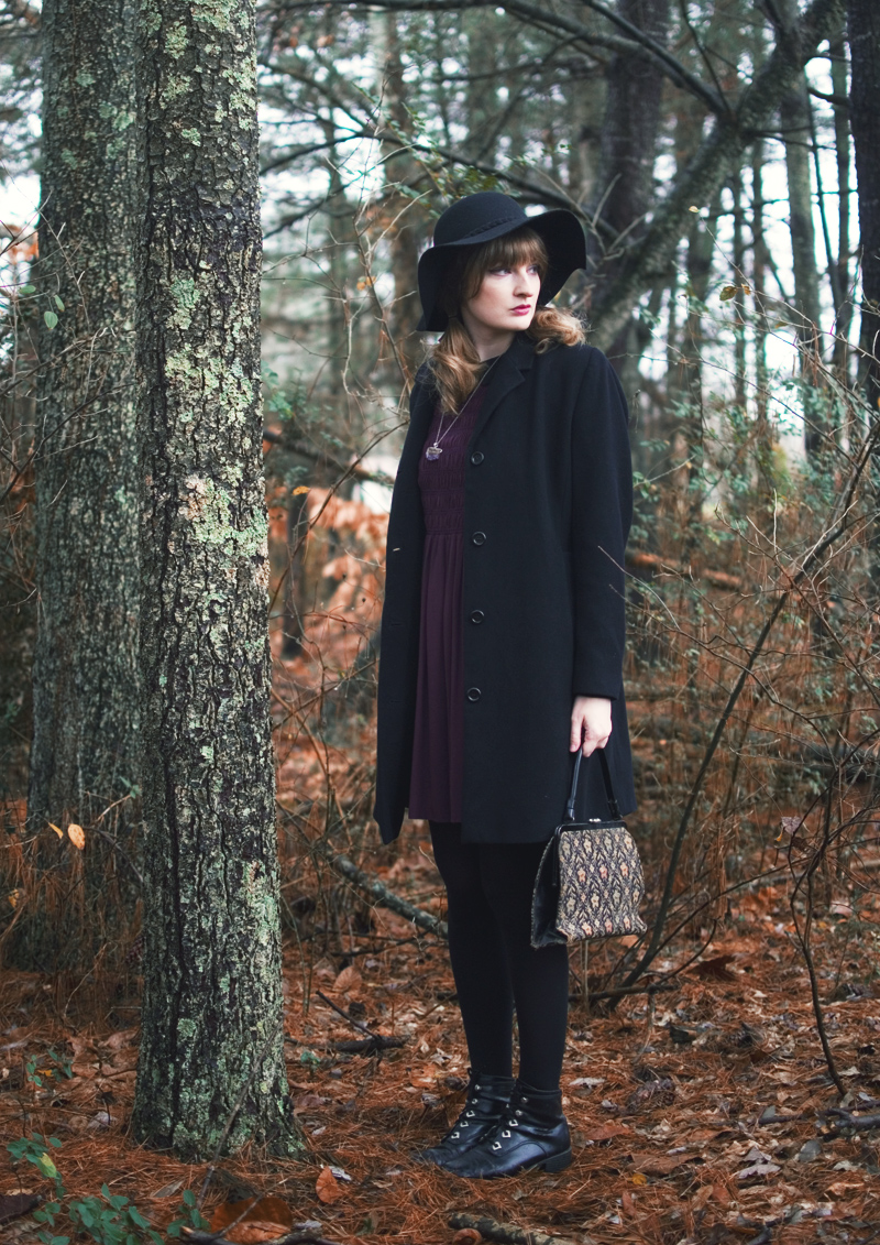 The Flying Clubhouse: Aubergine | winter outfit