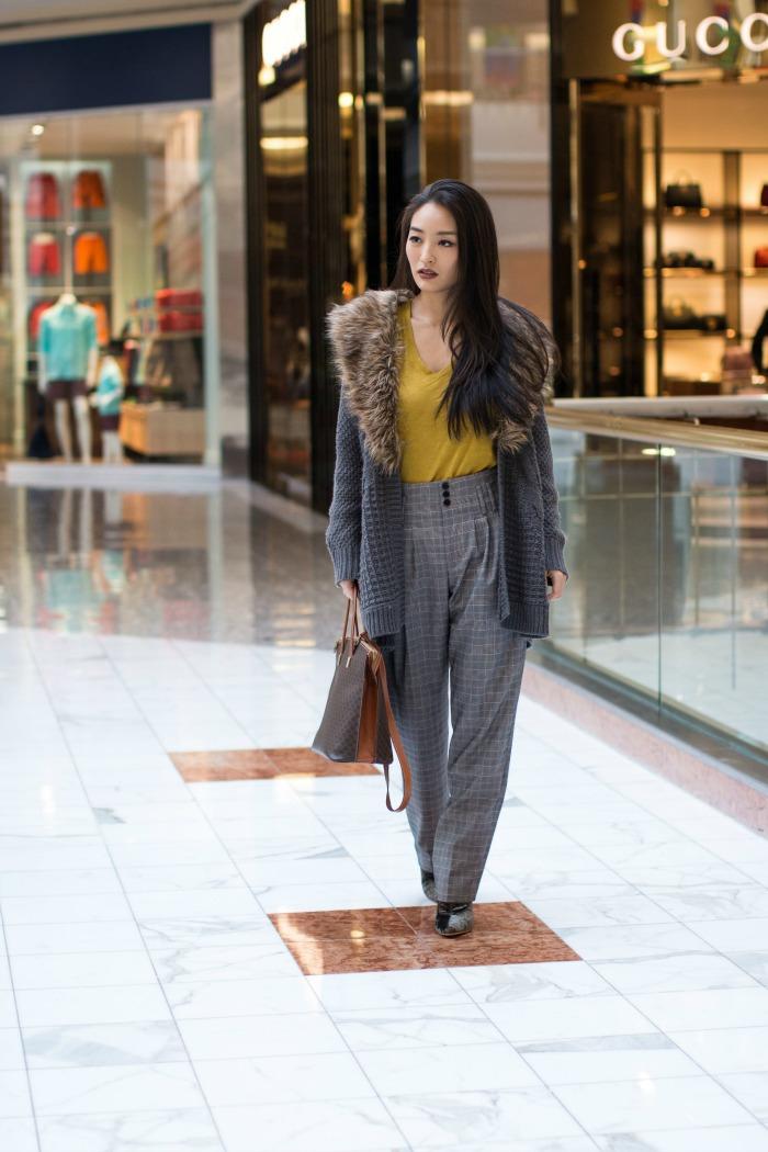 fashion blogger at tysons galleria