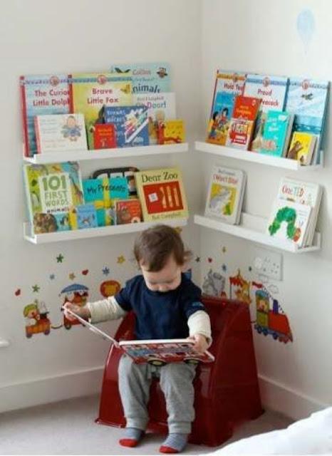 Cantinho de leitura Quarto Montessoriano