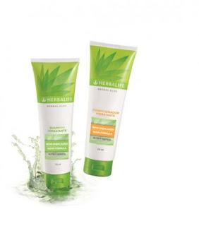 shampoo e condicionador de babosa da herbalife