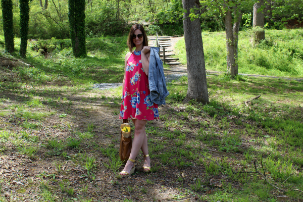 floral swing dress, Pure Hearts Boutique, spring style