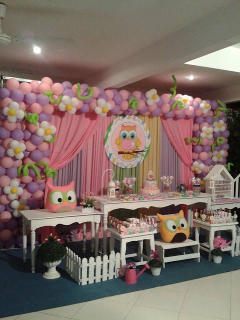 Fiestas personalizadas ideas de decoraci n de fiesta - Decoracion con buhos ...