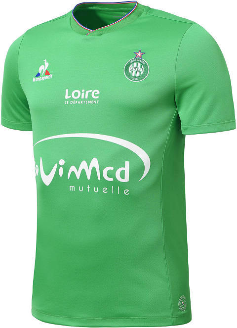 aee9eddda4e The design of the new AS Saint-Etienne 2015-2016 Home Shirt draws  inspiration from the iconic Le Coq Sportif Saint-Etienne Kits from the  1970s and 80s.