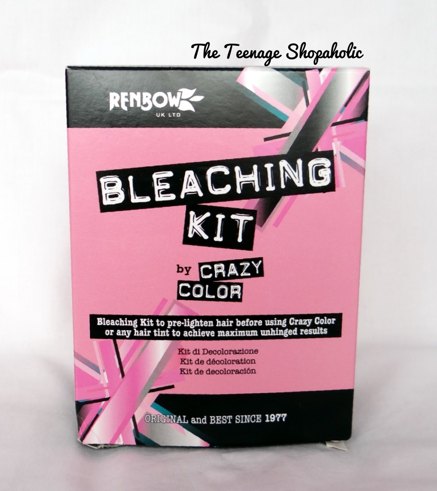 Crazy color bleaching kit and ion colour flash ultra indigo also diva   diary rh ateenageshopaholicspot