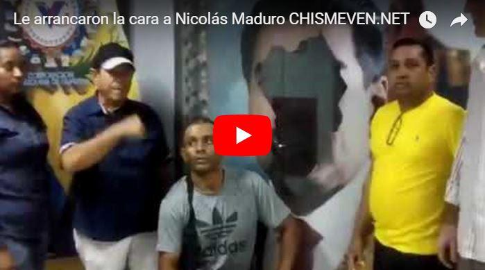 Le arrancaron la cara a Maduro y los chaburros chillan