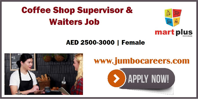 Coffee Shop Supervisor & Waiters Job