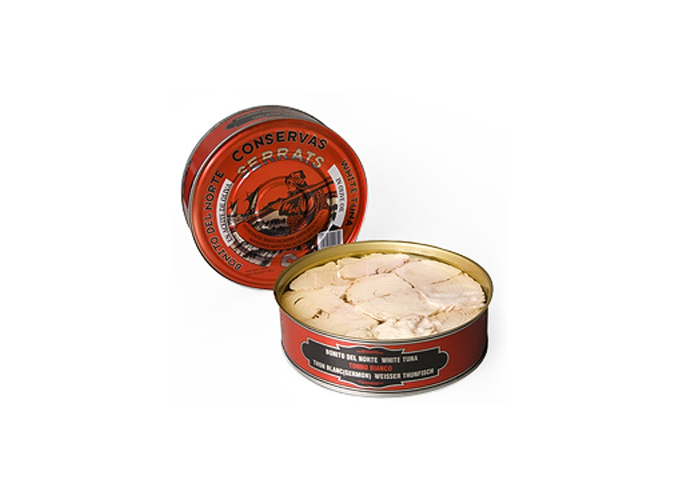 Canned tuna manufacturers in Spain produce seafood product