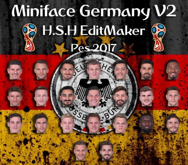 Miniface Germany World Cup 2018 PES 2017