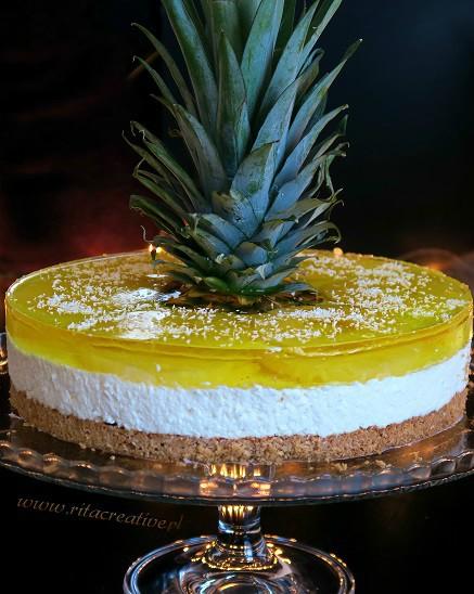 sernik kokosowo ananasowy
