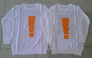 Jual Online Sweater TAHW White Couple Murah Jakarta Bahan Rajut Terbaru