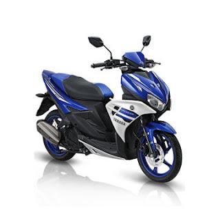 Dealer Motor Yamaha Aerox 125 LC Murah di Solo warna biru