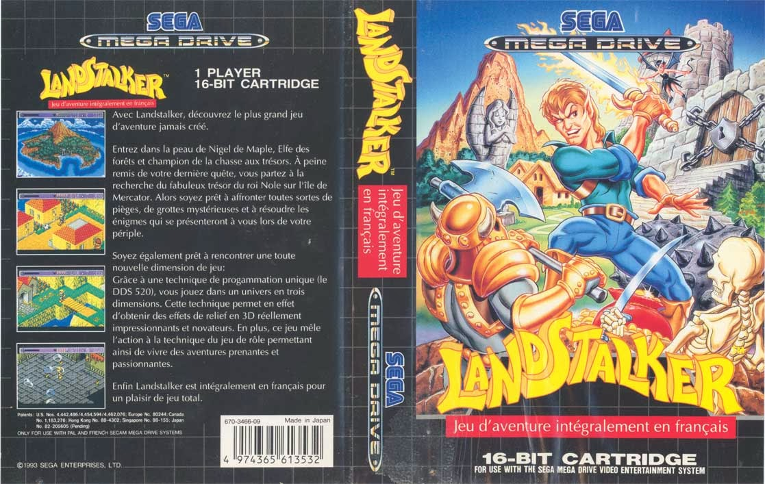 Greg Martin's Artwork for Sega's Landstalker