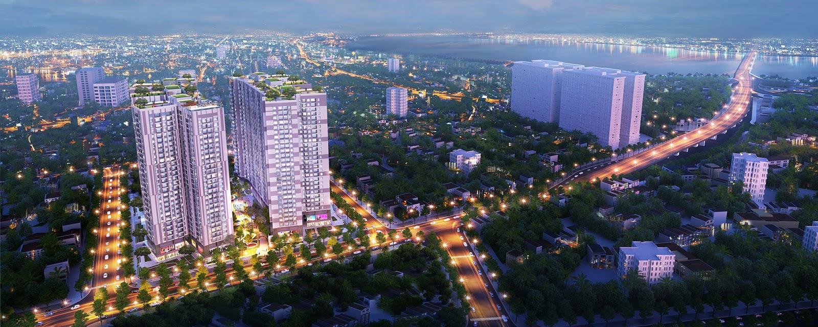 Phối cảnh dự án chung cư Imperia Sky Garden Minh Khai