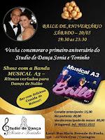 Sonia e Toninho convidam para seu Baile de aniv. da escola de dança
