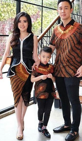 Model Baju Batik Couple Keluarga