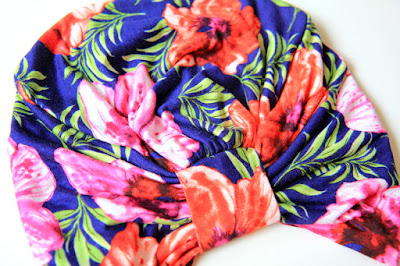 Hawaiian Hibiscus Print Turban by Mademoiselle Mermaid