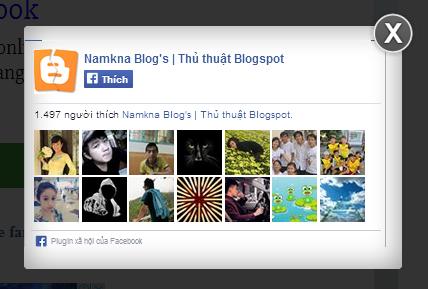 [Tips] - Khung hộp/box like fanpge trôi nổi dạng Lightbox cho Blogspot Blogger