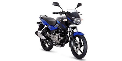 New Bajaj Pulsar 150 front view blue