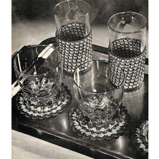 Vintage Checked Crochet Glass Jackets Pattern