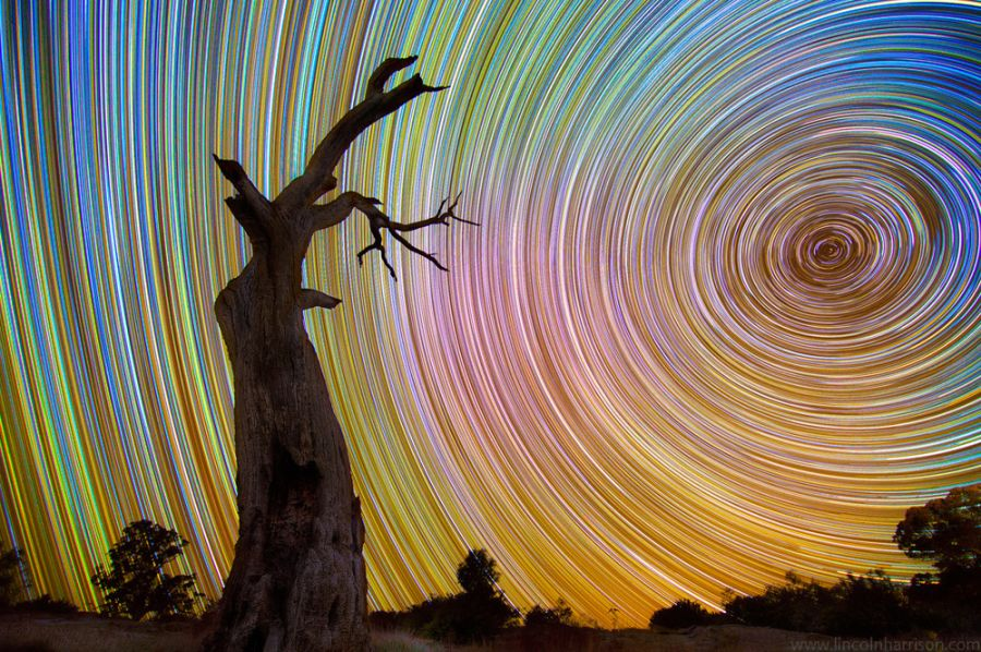 Beautiful Star Trails by Lincoln Harrison