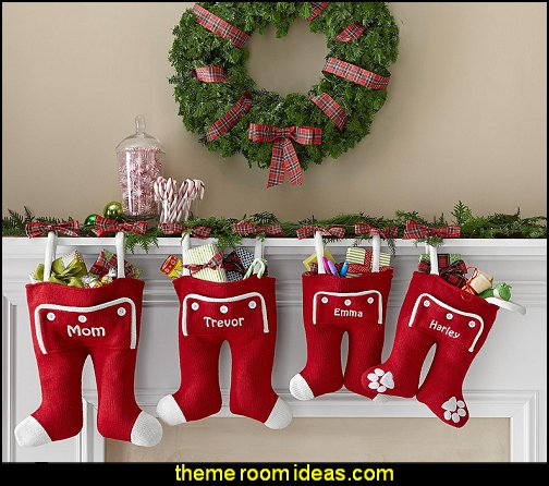 Santa Long John Christmas Stocking  Christmas decorations  Christmas decorating ideas - Christmas decor - Christmas decorations - Christmas kitchen decor - santa belly pillows - Santa Suit Duvet covers - Christmas bedding - Christmas pillows - Christmas  bedroom decor  - winter decorating ideas - winter wonderland decorating - Christmas Stockings Holiday decor Santa Claus - decorating for Christmas - 3d Christmas cards