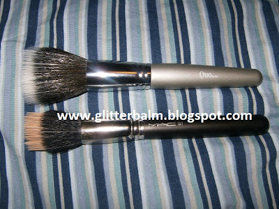 glitter balm mac 187 dupe  quo bronzing powder brush