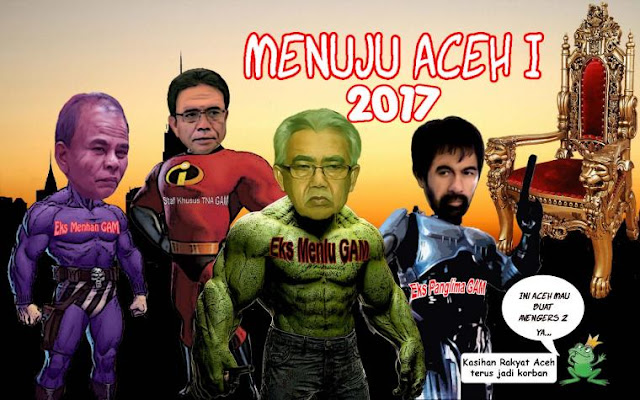 Zaini, Zakaria, Mualem dan Tgk. Agam Bersaing di Pilgub Aceh