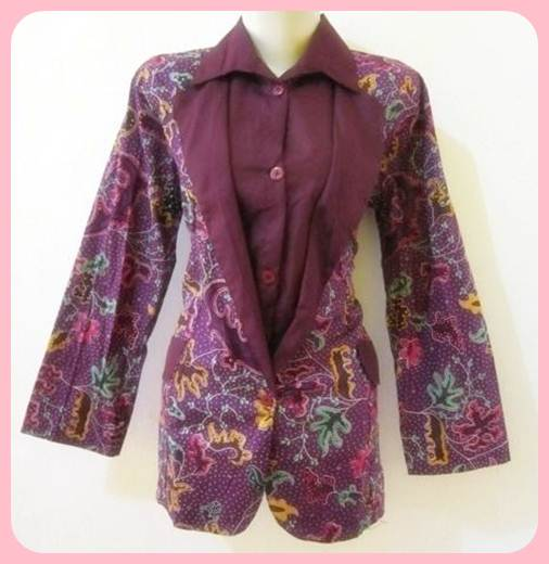 Model Baju Batik Wanita 2015: Model Baju Batik Wanita Modern Untuk Kerja 2015 Baju