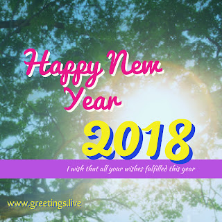 Free to share New Year 2018 High quality Greetings