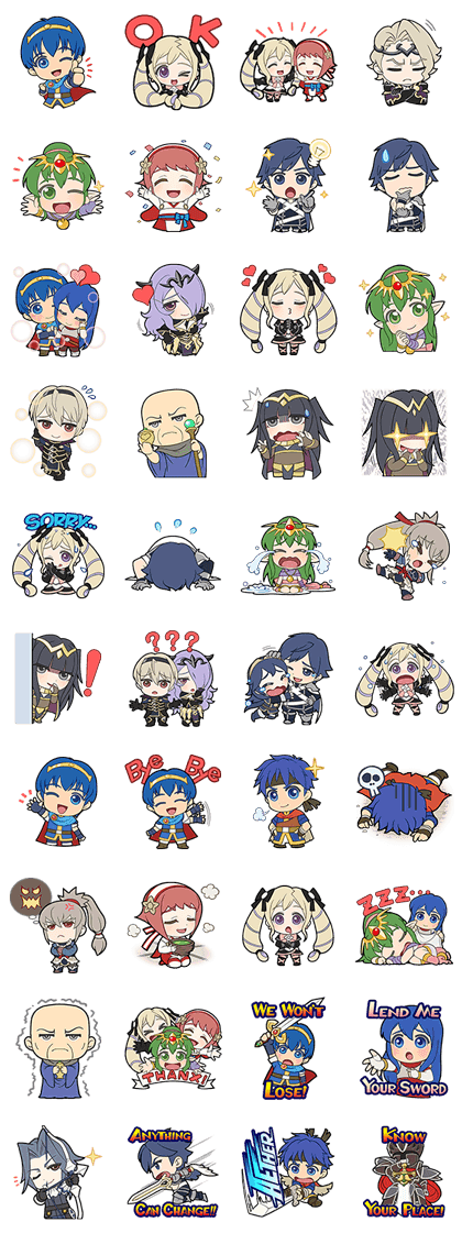 LINE Official Stickers - Fire Emblem Link Stickers