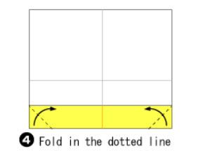 Bước 3: Gấp 2 góc giấy vào trong