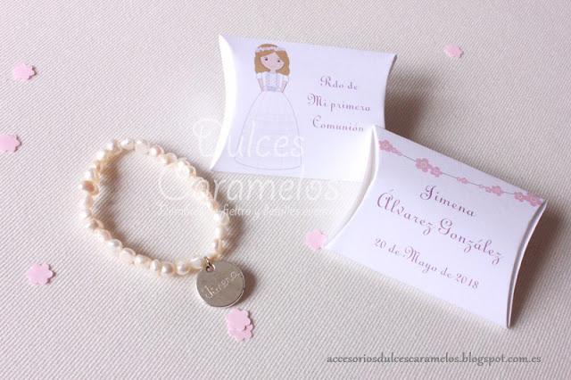 pulsera perlas comuniones ilustraciones