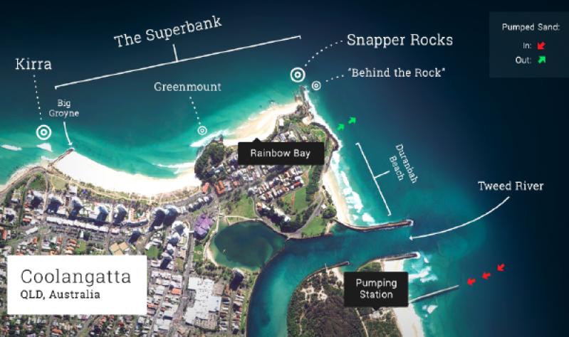 mapa olas gold coast